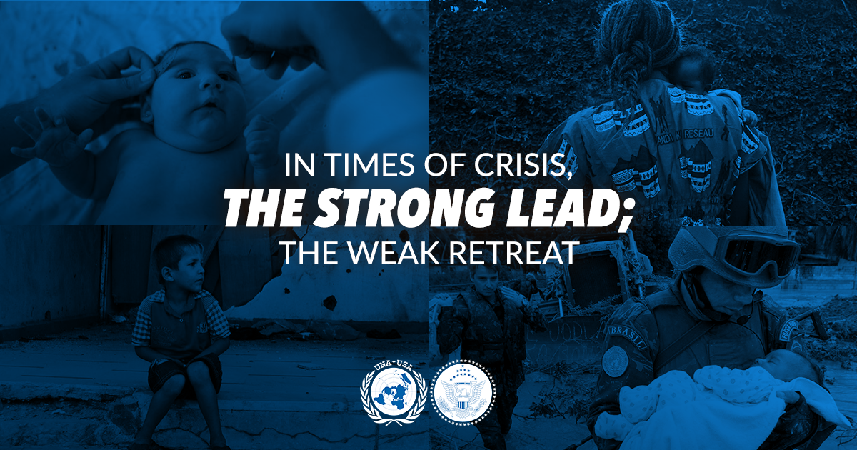 In times of crisis, the strong lead