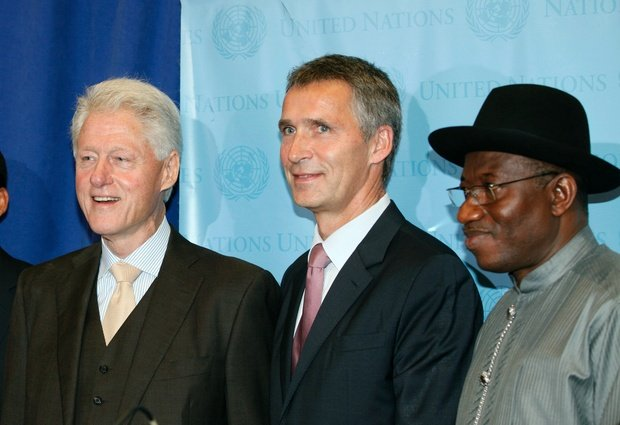 Bill Clinton joined other world leaders to announce a new partne